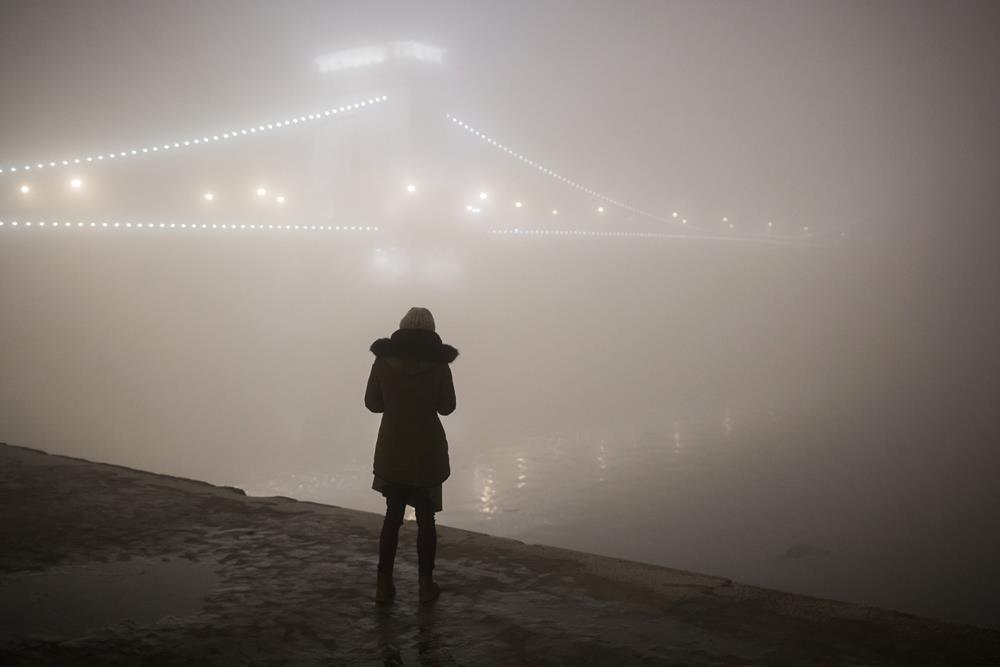 Köd Budapesten - Esti városképek