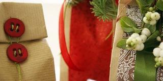 Karácsonyi díszcsomagolás
