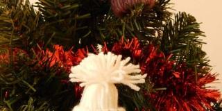 Mini sapka karácsonyfadísz