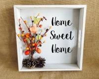 Képkeretbe foglalt őszi dekor