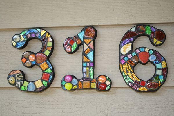 Mozaik házszám