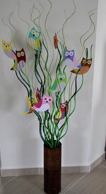 Bagoly dekoráció