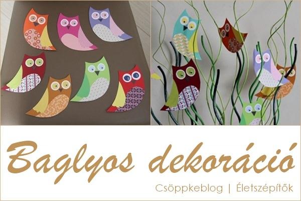 Baglyos dekor