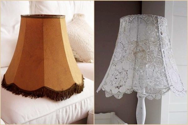 Csipke lámpaernyő DIY