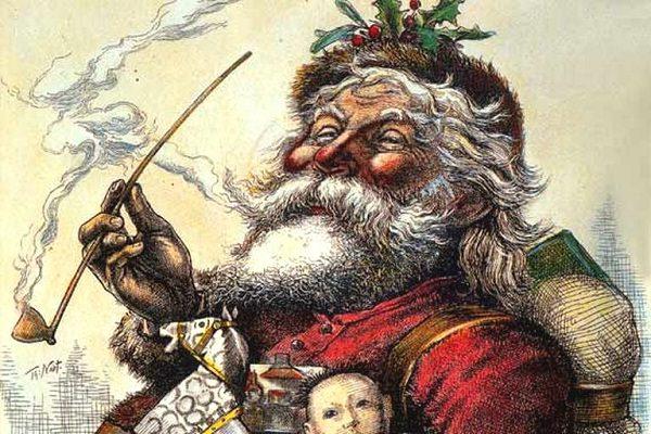 Advent 1881 Old Santa