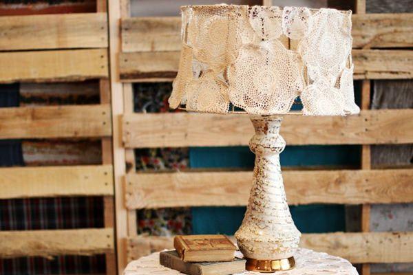 Csipke lámpaernyő