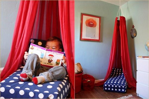 Olvasósarok gyerekszobába