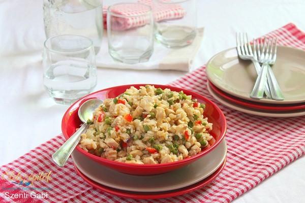 Szaftos csirkehusos rizs