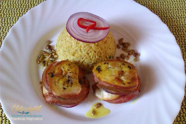 Cukkini fűszeres rizzsel