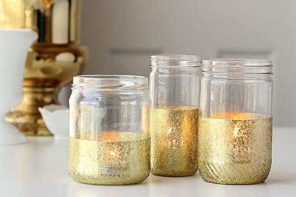 Aranyozott befőttes üveg