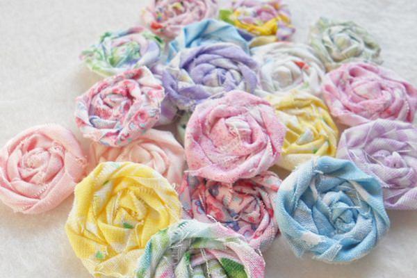 Textil rózsák