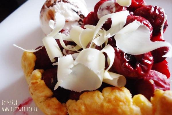 Rusztikus francia pite: omlós meggyes galette