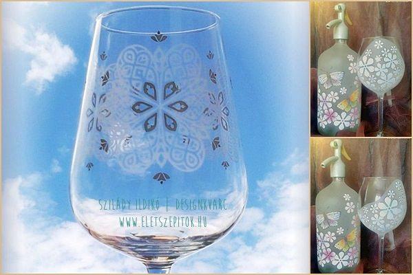 Díszített üveg