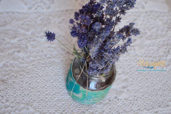 Befőttes üvegből váza: tekerjük körbe spárgával, majd fessük!