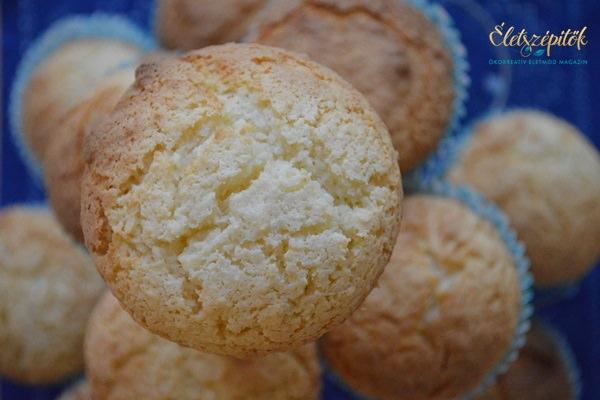 Kókuszos muffin villámgyorsan, egy tojással, olaj-, margarin- és vajmentesen