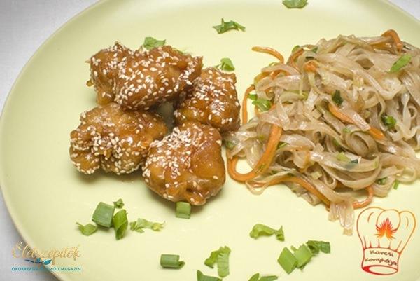 Kínai szezámos csirkemell