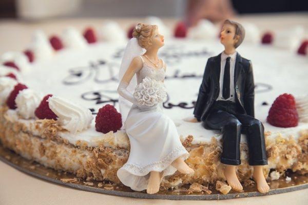 Lélekhajó esküvő torta