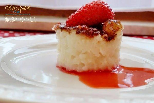Vaníliás sült tejberizs gyümölcsszósszal (tojásmentes recept)