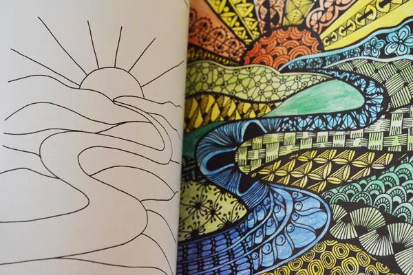 Zenfirkák színező könyv