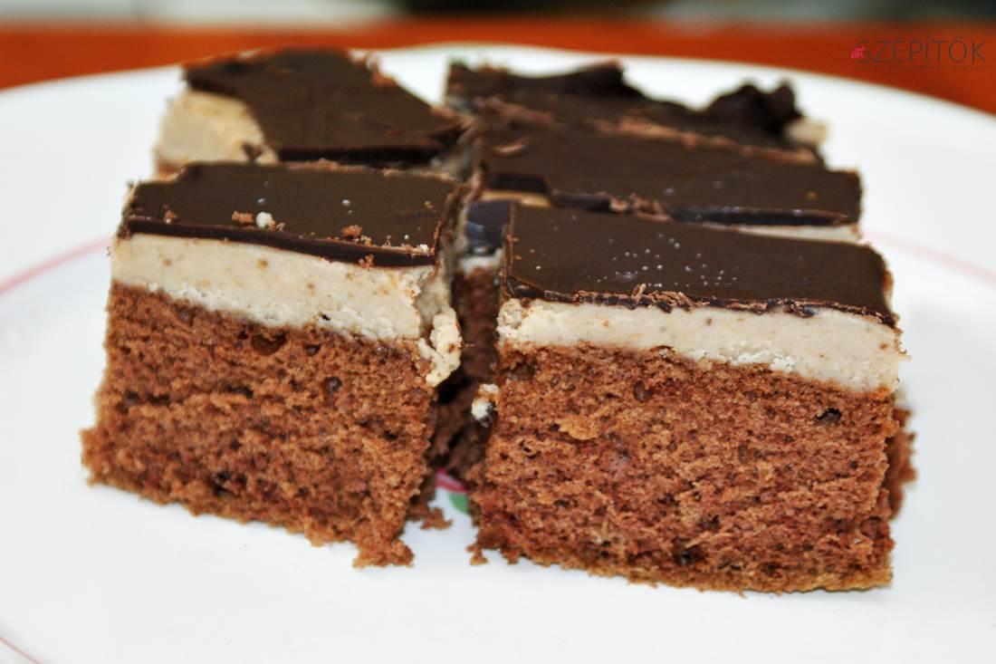 Csokimázas gesztenyés szelet