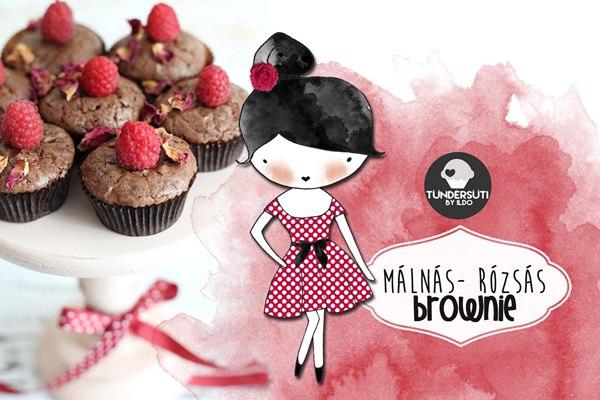 Tündérsüti gasztroblog brownie csokis málnás