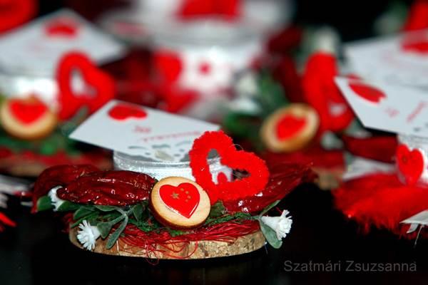 Valentin nap mécsestartó