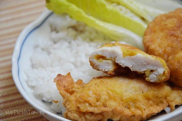 Csirkemell fokhagymás-currys bundában
