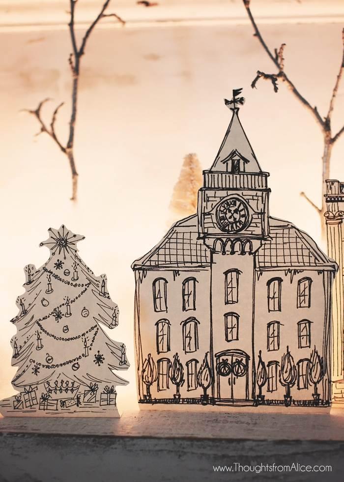 diy-handmade-christmas-village