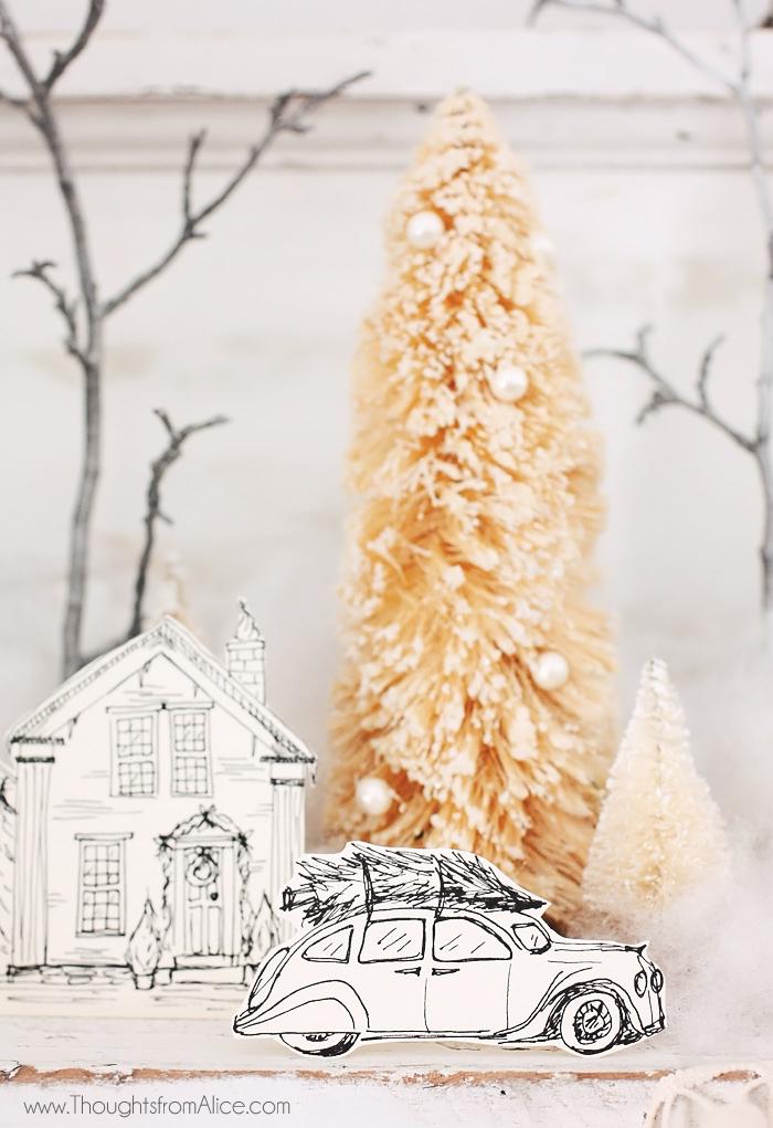 vintage-hand-drawn-christmas-village-decor