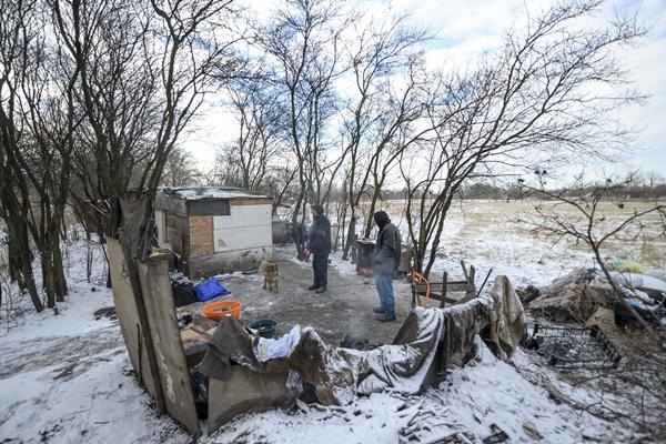 Hajléktalanok Debrecenben 2017. január 5-én. MTI Fotó: Czeglédi Zsolt