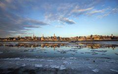 Szentendre, 2017. január 9. Jégzajlás a Dunán Szentendrénél a Szentendrei-szigetrõl fotózva 2017. január 9-én. MTI Fotó: Mohai Balázs