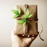 Környezetbarát ajándékcsomagolás